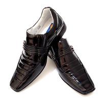 Sapato Social Couro Envernizado Sofisticado Luxo Franca