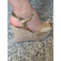 Sandália Anabela Leluel Shoes Modelo Schutz