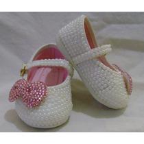 Sapato Infantil Customizado Com Pérolas E Strass