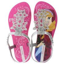 Sandália Infantil Ipanema Frozen 25865 - Rosa / Prata