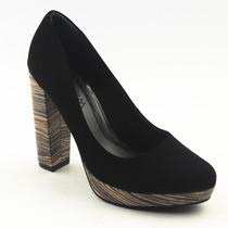 Sapato Social Feminino Scarpin Meia Pata Ramarim 582889
