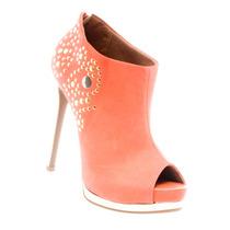 Bota Ankle Boot Peep Toe Ramarim Meia Pata Nobuck 1328103