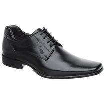 Sapato Rafarillo Em Couro Preto Com Solado Em Borracha 3013