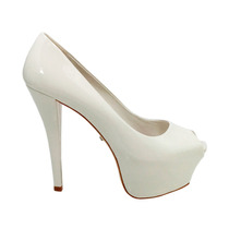 Peep Toe High Heels Branco Schutz