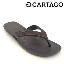 Chinelo Cartago Dakar Dedo Masculino Preto Ou Marrom 10738