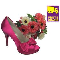 Peep Toe Up Shoes! Sapato Confortável Para Noivas!! Lindo!!!