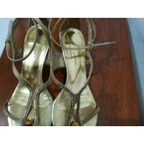 Sandalia Dourada Santa Leopoldina Tam 38