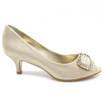 Sapato Peep Toe Festa Laura Porto Mr 1167 Gold | Zariff