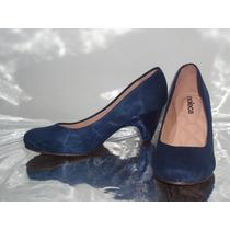 Sapato Boneca Moleca Azul Conforto Salto 7cm Oferta - 291