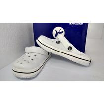 Sandália Crocs Chinelo Babuch Branco Feminino Kemo Original
