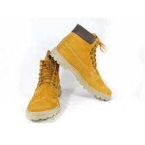 Bota Coturno Em Couro Legítimo Yellow Boots/preto Adventure