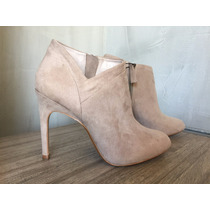 Zara Ankle Boot Preta Bege Cinza 36 Bota