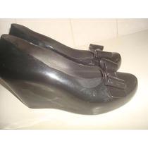 Sapato Melissa Plataforma Modelo Kali Laço - Preta - Nº 36