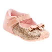 Sapatilha Boneca Infantil Klin Laço Velcro Criança 995079