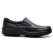 Sapato Social Masculino Casual Antistress Couro Diabeticos