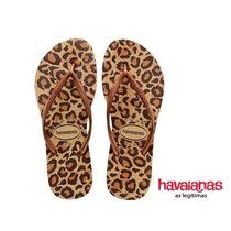 Chinelo Havaianas Feminino Slim Animal Onça Original Clique+