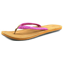 Reef Gypsy Macrame Canvas Thong Sandal