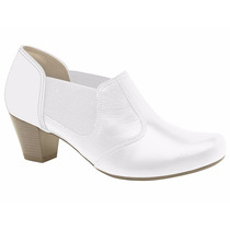 Sapato Branco Feminino Campesi Profissional Enfermagem+brind