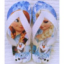 Chinelo Sandália Personalizado Infantil Frozen