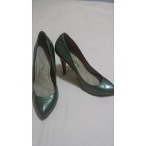 Sapato Santa Lolla Verde Verniz 38 Salto Social Fechado