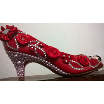 Sapato Personalizado Noiva Vermelho