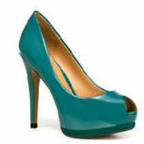 Peep Toe Zara Verde 36 Importado. Lindo!