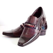 Sapato Social Masculino Couro Verniz Moda Franca Dhl Calçado