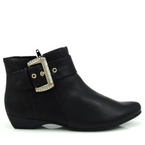 Bota Ankle Boot Comfortflex 1590302 - Preta