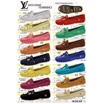 Mocassim Feminino Louis Vuitton Em Promoção Aproveitem !!!