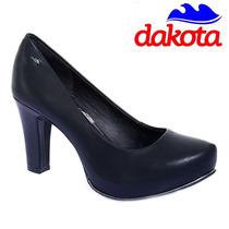 20% Off Sapato Scarpin Meia Pata Dakota Couro Cores B7861
