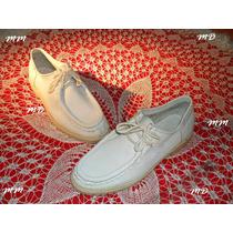 Sapato Branco Dockside/mocassim C/ Solado Em Latex Gelo ! !