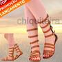 Sandálias Gladiadoras Media C/ziper Md2 - Chiquiteira Outlet