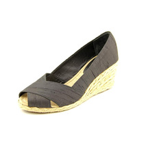 Lauren Ralph Lauren Cecilia Peep Toe Canvas Wedge Sandal