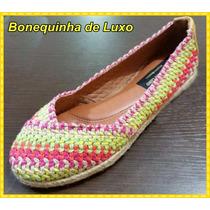 Alpargata Crochê Multicolor - Frete Grátis Para Todo Brasil