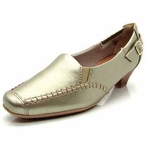Sapato Feminino Salto Médio Branco Piccadilly