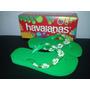 Havaiana Top Infantil Verde Neon (bordada)