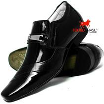 Sapato Social Couro Verniz Forrado Em Couro Exclusivo