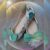 Sapatilha Frozen Elsa Calçado Sapato Infantil Juvenil Adulto