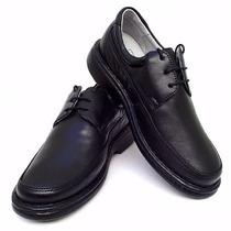 Sapato Masculino Antistress Pelica Marron E Preto.