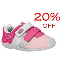 20% Off Tênis Bibi Infantil Couro Menina Rosa - 683170