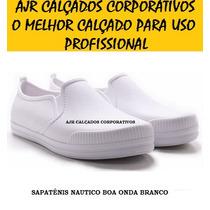 Sapato Profissional Works Branco [ Enfermagem - Crock Kemo ]
