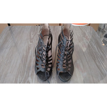 Sapato Salto Alto Ankle Book Preto Lindissimo N° 35