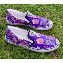 Tênis Sneaker Sapatênis Et Azul Sk8r Conga Hipster Geek Vans