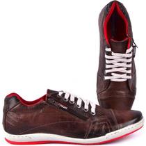 Sapato Sapatenis Masculino Em Couro Legítimo Estilo Polo