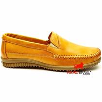 Dock Side Tradicional Yellow Couro Inteira Blaqueada Franca