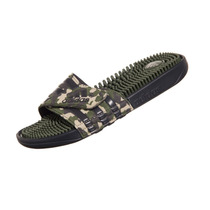 Chinelo Adidas Adissage Marbled Verde Militar