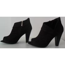Andarella: Ankle Boot De Camurça ¿ 37