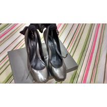 Sapato Arezzo Estilo Bailarina Com Salto Grosso E Laço