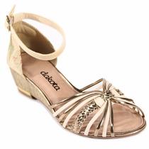 Sandália Feminina Dakota Dourado Z0061 Snob Calçados-s1