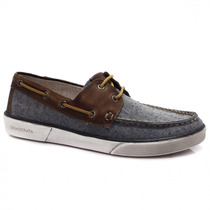 Sapato Dockside Masculino Democrata Denim | Zariff